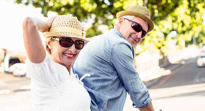 happy older couple